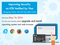 Improving security on KTB Verified by VISA service