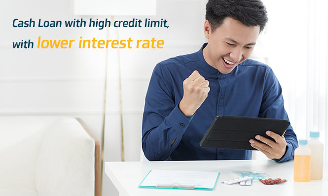 Krungthai Smart Money Loan! Cash Loan with high credit limit, with lower interest rate.