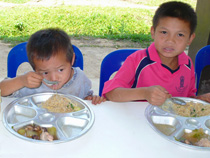 Krung Thai supporting Lunch for School Children