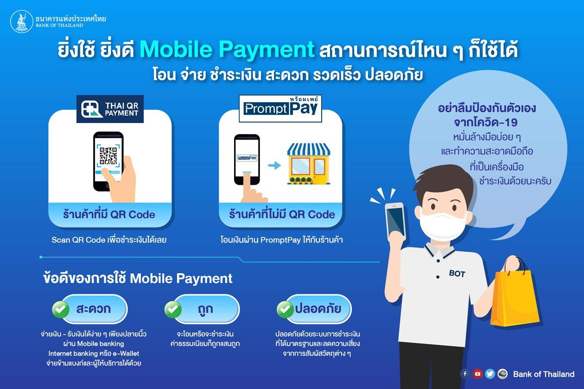 ยิ่งใช้ ยิ่งดี Mobile Payment สถานการณ์ไหน ๆ ก็ใช้ได้
